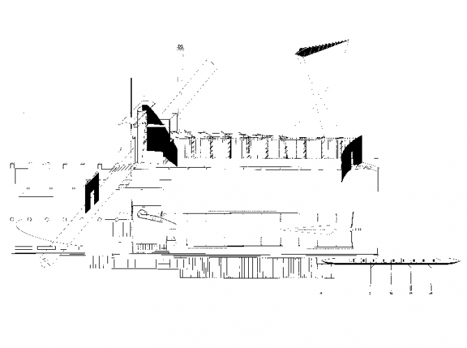 Boathouse/Footbridge, NYC, 1987