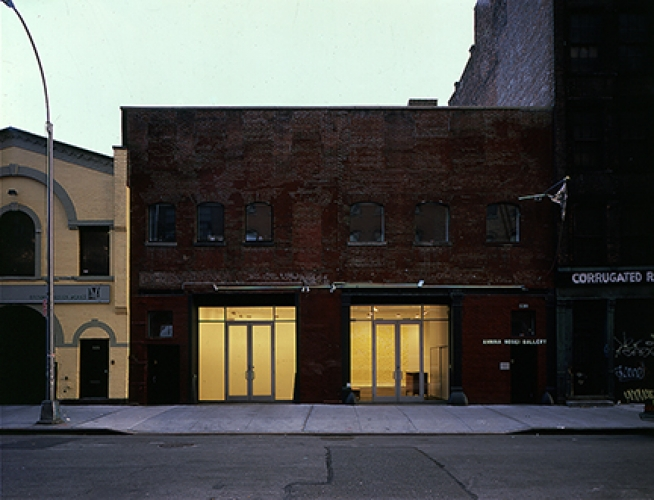 Pat Hearn (left) and Morris Healy (right) Gallery Exterior, 1991